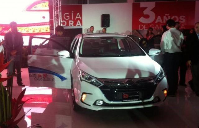 BYD Qin plug-in hybrid in showroom in Costa Rica