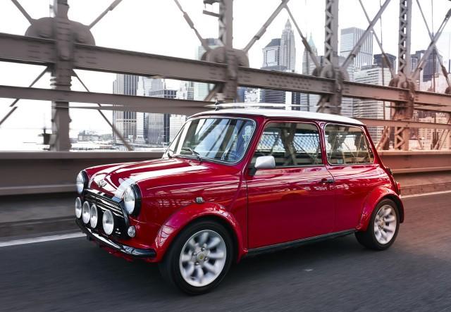 Classic Mini with electric powertrain
