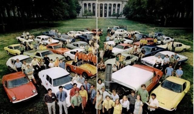 Life magazine centerspread of 1970 Clean Air Car Race entries