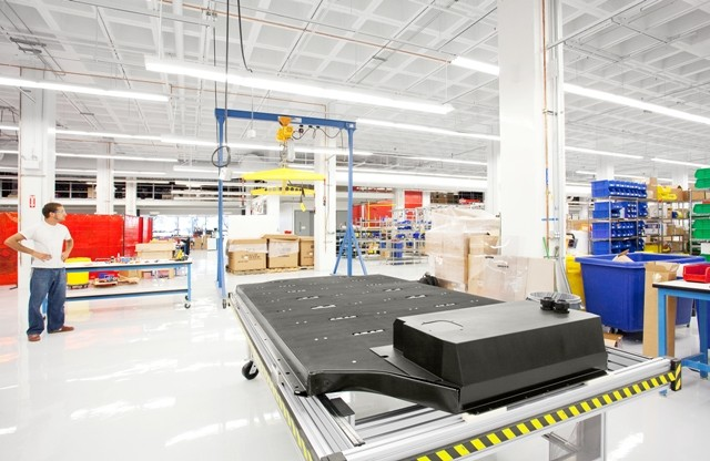 Tesla Motors - Model S lithium-ion battery pack