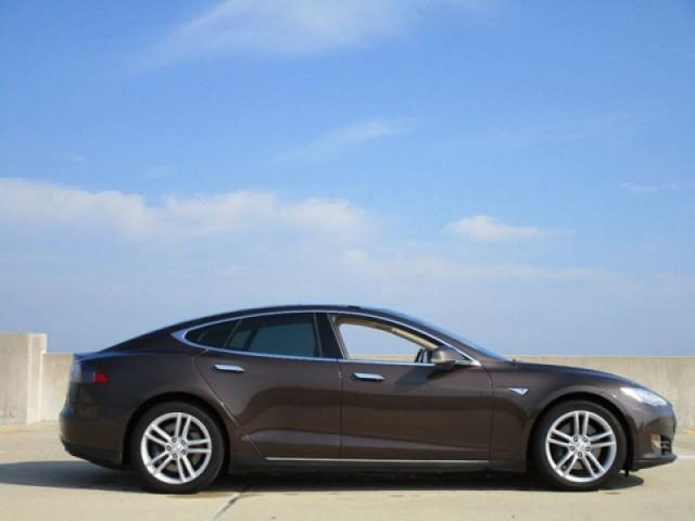 Brown 2013 Tesla Model S60 listed on Autotrader, Aug 2018, for $37,975