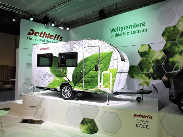 Dethleffs e.Home Coco electric camping trailer