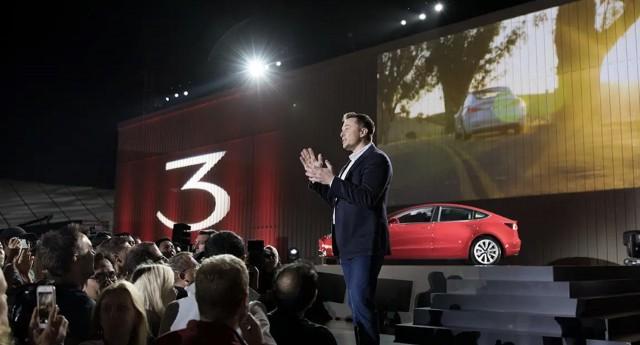 Elon Musk at Tesla Model 3 reveal