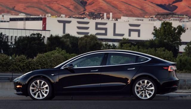 2017 Tesla Model 3, in photo tweeted by Elon Musk on July 9, 2017