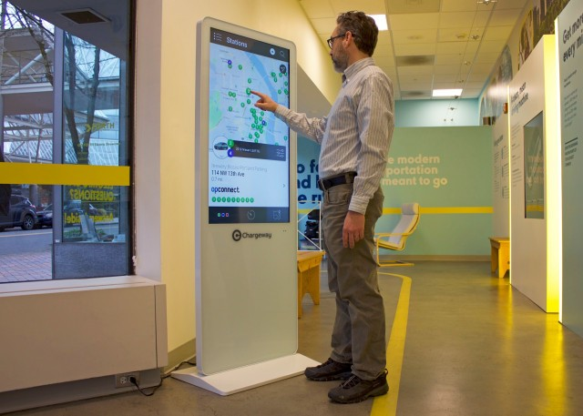 Chargeway Beacon  -  Forth electric vehicle showcase, Portland