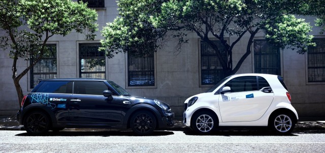 Mini from BMW and Smart from Mercedes join in Reach Now car sharing program