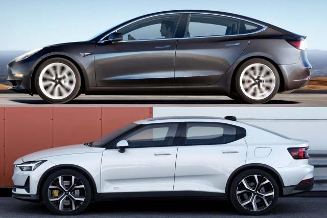 Tesla Model 3 vs. Polestar 2