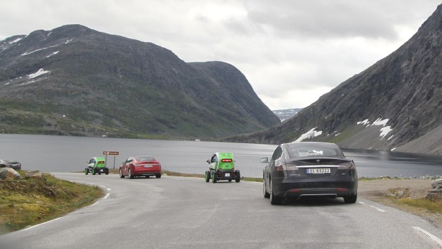 Electric car rally in Norway - elbil.no